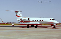 N535CS - 1985 build Grumman Gulfstream III, still current as N513MA (egcc) Tags: 3 waco g3 giii regional act gulfstream grumman bizjet 464 kact gulf3 n513ma n83pp n83ag n535cs n340ga