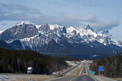 towards The Rockies (~ Mariana ~) Tags: ab canada banff rockymountains sky clouds landscape panorama marculescueugendreamsoflightportal friends outstandingromanianphotographers travelsofhomerodyssey mariana ~mariana~