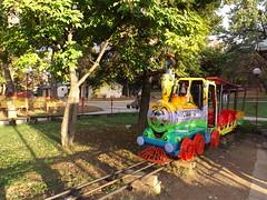 Train (creepyweirdslove) Tags: park autumn sun cute fall nature colors kids train fun play serbia belgrade beograd srbija