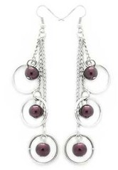 Glimpse of Malibu Purple Earrings P5410A-5