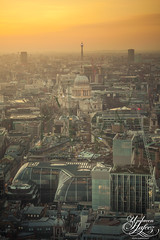 London City (Umbreen Hafeez) Tags: road city uk light sunset england building london tower st thames architecture night buildings river dark europe cityscape traffic cathedral low pauls gb bt