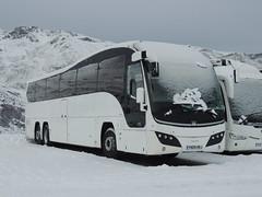 DSCN0372 Battersby Silver Grey, Morecambe 954 YN09 HRJ (Skillsbus) Tags: england france buses volvo elite logan valthorens coaches plaxton battersbysilvergrey b12bt