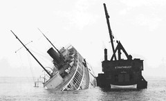 Sinking of the SS George M. Cox (TBayMuseum) Tags: ontario canada history ships shipwrecks lakesuperior isleroyale rockofages georgecox ssgeorgemcox strathbouy