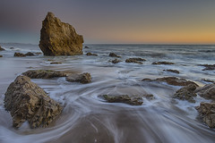 Liberty, when it begins to take root, is a plant of rapid growth (ferpectshotz) Tags: ocean sunset beach twilight rocks waves glow haystacks pacificocean pacificcoast pacificcoasthighway elmatadorbeach