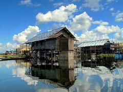 Intha village, Inle Lake, Myanmar (PeterCH51) Tags: houses house lake water reflections fisherman village fishermen burma housing myanmar inle stilt intha stilthouse inthavillage peterch51
