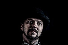 The wicked (Ferdinand Bart Alst - Pixel Your Soul Photography) Tags: portrait beard iceland model eyes darkness evil wicked bowlerhat fred lowkey darkj icelandic pixelyoursoulphotography ferdinandbartalst