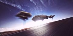 JUMP INTO THE FUTURE (TransformersMan) Tags: street sky car de stars flying jumping space galaxy spaceship 12 universe delorean dmc12 dmc lorean