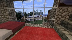 A Room With A View (Bouzz) Tags: trees windows game xbox360 window glass monster bed graphics beds steve xbox games cobblestones cobblestone videogames gaming stuff videogame monsters mojang minecraft