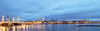Panorama Stadsgezicht - City scape Kampen Netherlands (Reina Smallenbroek) Tags: bridge panorama netherlands architecture cityscape bluehour brug kampen architectuur overijssel stadsgezicht blauweuurtje betterthangood zwartsjansmaarchitecten stadsbrug buildyourrainbowlv1 niceasitgetslv1 planetearthinpanorama infinitexposurelv1 infinitexposurelv3