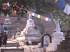Path to Swayambhunath