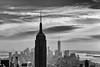 Empire Heaven (Meine Sicht) Tags: city nyc winter bw usa newyork downtown manhattan sw empirestatebuilding rockefellercentre monochrom schwarzweiss topoftherock februar bergischgladbach fotokunst rauen leicam aussichtplattform totr elmarit90mmf28 wwwrauenfotode