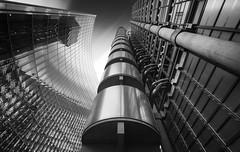 Galvanize (vulture labs) Tags: white black london art monochrome lines architecture geometry steel monochromatic lloyds lloydsbuilding galvanize 1424mm d800e