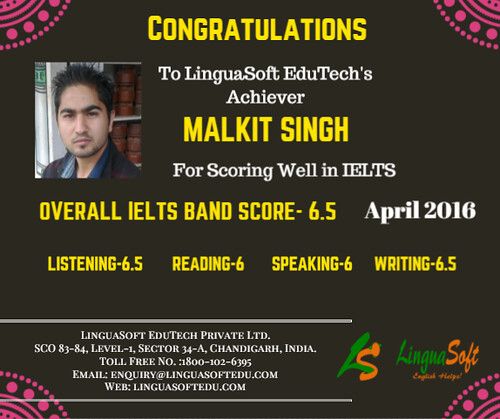 Malkit Singh - IELTS Band score 6.5