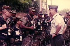 Briefing the Troops (Ga. Guard History) Tags: olympigamessummerolmpicgamesgeorgianationlguard nationalguard georgiahistory georgiamilitaryhistory nationalguardimages nationalguardhistory domesticsupporttocivilauthorities summer olympics olympicgames centennialolympicgames summerolympics 1990s
