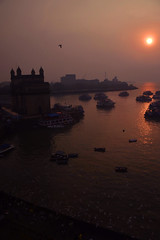 (Rick Elkins Trip Photos) Tags: mumbai maharashtra india boats gatewayofindia sunset