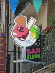 Piazza Generale Luigi Cadorna, Stresa - ice cream shop - Bar Elena (ell brown) Tags: stresa italianlakedistrict lakemaggoire lagomaggiore greaterlake lagoverbano piedmont italia italy provinceofverbanocusioossola verbanocusioossola golfoborromeo mountmottarone strixia piazzageneraleluigicadorna piazzacadorna piazzacetomaso icecream barelena gelato balcony balconies shutter shutters sign signs hotelelena ristorante