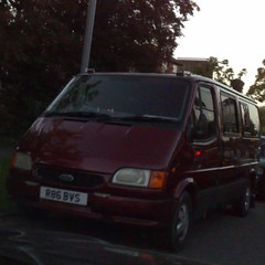 ȱ (uk_senator) Tags: 1997 ford transit mk3 burgundy