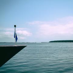 Bow (bratli) Tags: yacht bow water land greenport shelterisland ny northfork longisland bay clouds peconic