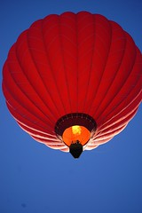 Applied Physics (Let Ideas Compete) Tags: above blue red sky orange color colour fire colorful basket hotair balloon floating lookingup flame heat hotairballoon gondola colourful underneath fireinthesky upward inflated hotairrises