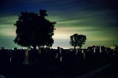 Leaving (Patrick J. McCormack) Tags: sky 120 film cemetery graveyard night analog landscape fuji kodak 6x9 portra gw690