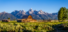 John Moulton barn (mary_hulett) Tags: mountain mountains barn scenic historical homestead wyoming iconic sagebrush mormonrow tetonnp antelopeflatsroad johnmoultonbarn