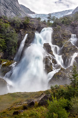 Kleivafossen (johanbe) Tags: kleivafossen briksdalsbreen glacier glacir waterfall vattenfall water power nature landscape nikon nikkor norway norge mountain ice summer johanbengtsson