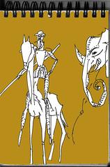 Don Quixote (LetsLetsLets) Tags: elephant paris yellow jaune drawing amarelo dibujo donquixote julho desenho retrospective elefante migueldecervantes grandpalais 2016 letsletslets amadeosouzacardoso