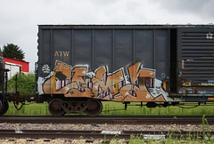 Coma (quiet-silence) Tags: graffiti graff freight fr8 train railroad railcar art coma cfc boxcar atw atw8154