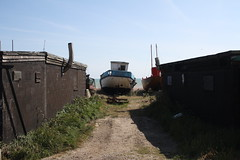 Boat (My photos live here) Tags: boat fishing beach huts buildings hastings east sussex england seaside holiday resort canon eos 1000d