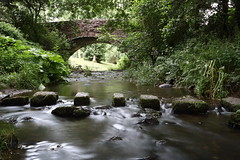 River Alyn, Llandegla. (Mat Price) Tags: riveralyn bridge llandegla trees longexposure cokinpolarizingfilter cokinndfilter tripod canon70d canonef1740mmf4lusm water rocks steppingstones dpp