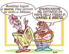 Bimbi morsi (Moise-Creativo Galattico) Tags: editoriali moise moiseditoriali editorialiafumetti giornalismo attualit satira vignette bimbi morsi asilo milano
