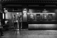 Night Already? (Jess Simen) Tags: japan kyoto gion blackandwhite blackwhite night nightlife rytei streetphotography monochrome urbanlife noire