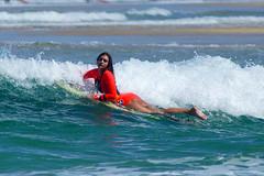 Crossing the wave barrier (Curufinwe - David B.) Tags: beach sea mer mimizan landes aquitaine france sony a77 a77v sonyalpha77 sonydslta77v 400mm sigma plage waves wave surf surfing wetsuit girl girls woman feminine surfer surfgirl surfergirl surfcamp