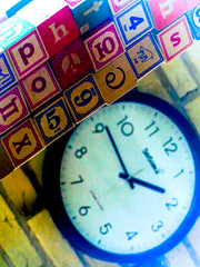 gr1 (jonathan.carroll484) Tags: blocks numbers 9 5 letters hebrew cyrilic clock time hand hands abstract abstraction photo pic image