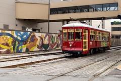 stop-at-the-riverwalk (swanlefitte) Tags: streetcar trolly neworleans