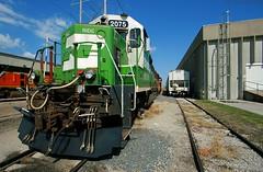 """PAC RIDE"" (Jeff Carlson_82) Tags: bn bnsf 2075 burlingtonnorthernsantafe pacificpride emd gp382 mac midamericacar kc kansascity mo missouri train railfan railroad railway heritage burlingtonnorthern"