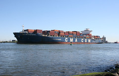 CMA CGM MAUPASSANT in New York, USA. August, 2016 (Tom Turner - SeaTeamImages / AirTeamImages) Tags: cargo cmacgm cmacgmmaupassant tomturner vessel water waterway channel spot spotting kvk killvankull statenisland newyork bigapple unitedstates usa nyc marine maritime pony port harbor harbour transport transportation shore shoreline
