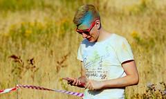 Holi Event - Oldenburg 2016 (Utkiek - the old landfill) / 17th picture (tusuwe.groeber) Tags: lovelycity germany lowersaxony oldenburg niedersachsen farbig farben favorit colourful colour sony sonyphotographing nex7 bunt deutschland holi event festival utkiek eidechsenstrase 2016