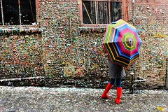 Gum Wall on Post Alley in Seattle (MyLifesATrip) Tags: seattle gumwall postalley
