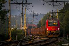 Brezovica 06h29 (misko k) Tags: purple slovenianrailroads slovenianrailways slovenskeeleznice s sz sunrise dawn twilight transportation slovenija brezovica morning