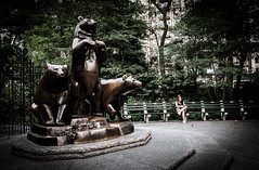 Bears & girl (OneMarie!) Tags: d5000 bear statues bears osos parque park centralpark nyc ny newyork usa nikon ciudad city verano summer