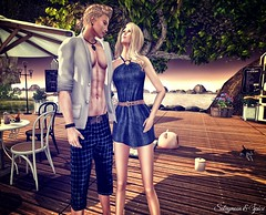 Sabrymoon and Spice wearing FashionNatic Roza Dress and Stamos Shorts (Two Too Fashion) Tags: fashion fashiondress femaleoutfit fashionnatic maleoutfit malemodel secondlife secondlifemodel style stylish sexy sensual casual casualchic chic chicoutfit rozadress stamosmaleshorts malepants maleshorts shortdress summerchicoutfit