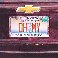 OH MY (Renee Rendler-Kaplan) Tags: licenseplate landoflincoln vanityplate ohmy wecelebratedour40thanniversarylastnight longtime outdoors outside automobile notours reneerendlerkaplan august 2016 chicagoist chicagoreader consumerist car illinois text