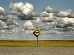 2 Directional (wrighteye) Tags: sign alberta clouds landscape decisions sky travel choice