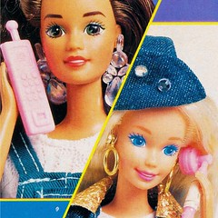 1993 Sun Jewel Teresa Doll #10957 & 1994 Super Talk Barbie Doll #14308 (The Barbie Room) Tags: 1995 barbie style book 1990s 90s panini 1993 sun jewel teresa doll 10957 1994 super talk 14308