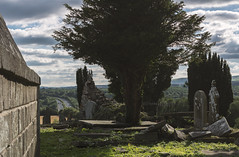 Eternity with a view (d1g1dav3) Tags: wicklow arklow avoca nikon graves cemetary tomb pyramid sun sunny d5200 raw tombstones eternity