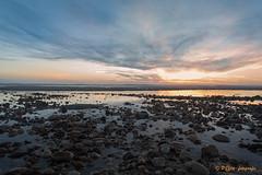 Setting sun on the sea (www.petje-fotografie.nl) Tags: aquitaineleslandes frankrijk montalivet zomervakantie2016 zee ondergaandezon strand stenen golvenatlantischekust