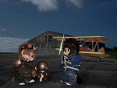 Hangar (Monkey Culture) Tags: monchhichi toho daisuke toy stuffedtoy toyart toyphotography photomanipulation photomanip