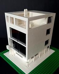 Maison Citrohan (askansbricks) Tags: lego legomoc legoarchitecture lecorb lecorbusier corbusier domino modernism bauhaus architecture modernarchitecture citrohan