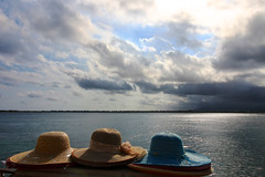 Keep calm and take a hat...rain is far, far away (CardPhoto // www.card-photo.com) Tags: hat sun sea seascape siracusa italy waterfront clouds rain relax serenity calm joy beach 2016 sicily